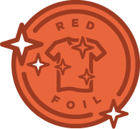Foil badge red