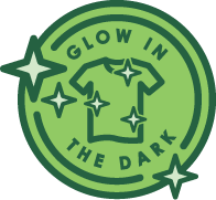 Glow in the dark badge